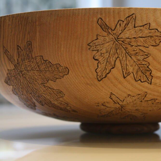 Patricia Spero Maple Leaf Pearl Dish