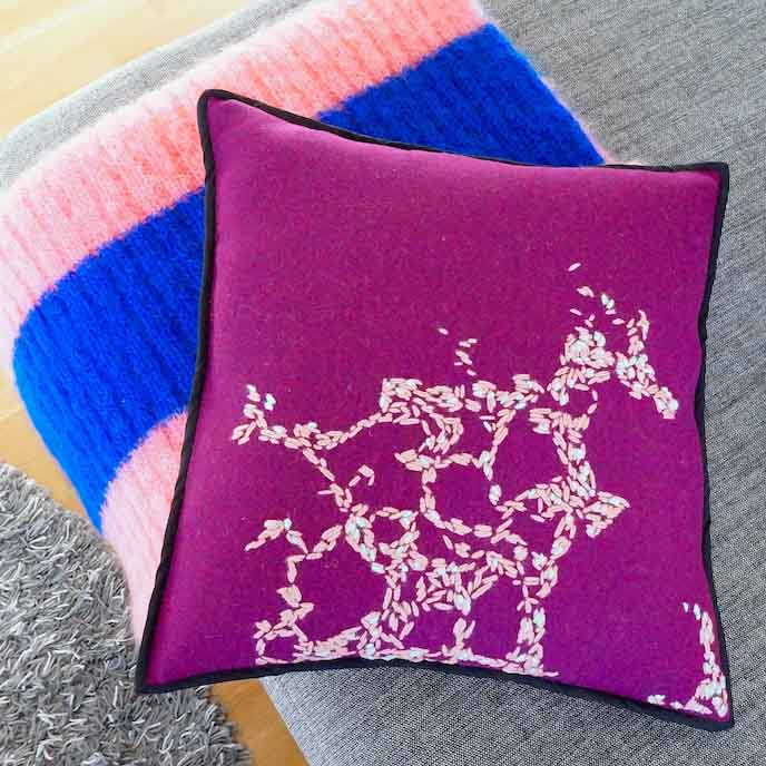 Hebridoodle Cushion Cover Culture Collection Purple