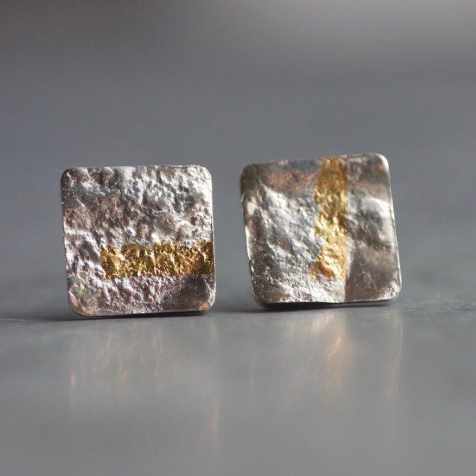 LINEAR stud silver